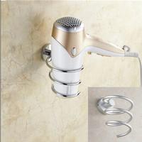 1pc/lot Innovative Wall-mounted Hair Dryer Rack Space Aluminum Bathroom Wall Shelf Storage Hairdryer Holder DP870660