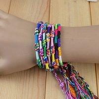 2014 Fashionable Friendship Bracelets Handmade Weave Woven Rope String Bracelet Handmade Charm/Strand Bracelet  (MIX COLOR)