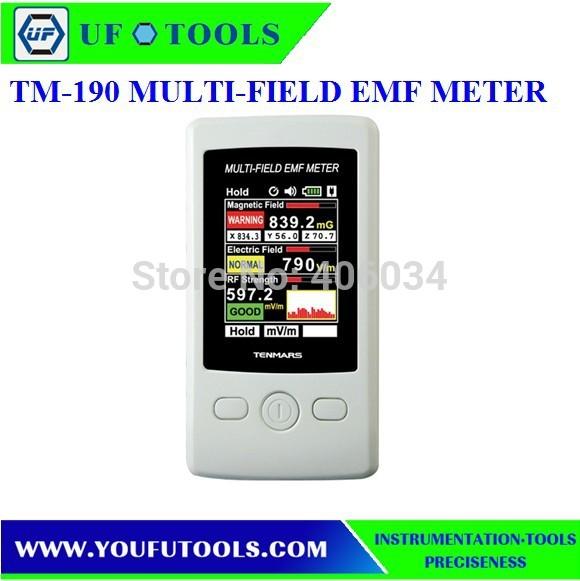 TM-190 TFT Display Digital Radio Frequency(RF) electromagnetic field strength Meter EMF Tester AC Electric field Meter(China (Mainland))
