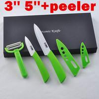 """Chinaware Ceramic Knife Set,3"""" 5"""" Ceramic Fruit Knife Set +Peeler+ EVA Retail Box Kitchen Knives Brand Tools"""