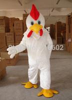 Adult Size White Chicken mascot Costume WholeSale price Cock mascot