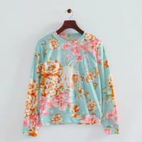 2014 Autumn New Women Casual Cotton Blends Knitted Sweatshirts Long Sleeves Fashion Ladies Tops 2000304203