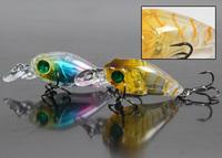 HOT SALE !!! 5pcs/lot 4.6cm 3.5g crank bait mini hard fishing lure new arrivel fake bait with VMC hooks