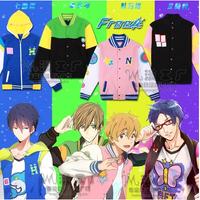 Anime Free! Iwatobi Swim Club Haruka Nanase Nagisa Hazuki Makoto Tachibana Rin Matsuoka Cosplay Jacket Hoodie Coat
