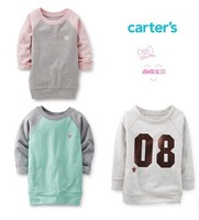 New Arrival ,Carters Original Baby Girls French Terry Tunic ,Girls Spring And Autumn Sweater,Freeshipping