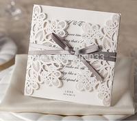 2014 New Design Elegant Embossed Laser Cut Wedding Invite  Wedding Cards----PK869