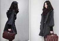 Free Shipping New 2014 Woolen Coat Women's Autumn Winter Jacket  Women Fashion Hooded Coat Outerwear  Wool Coats  A104