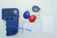 Portable HID ID Card Copier + 125KHz RFID Writable Card Key Tag Keyfob Reader Writer Clone Wiegand26 WG34 WG37 Access Control