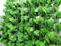 Cheap fake plastic grape leaf vine flower decoration rattan leafy vines 30 wholesale silk flower simulation