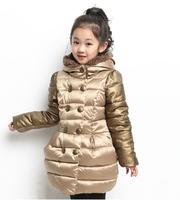 Kids Girls coat 2014 winter new large influx of children padded jacket plus thick velvet jacket models big boy