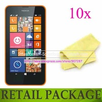 new 10x clear lcd guard screen protector For Nokia Lumia 630 635