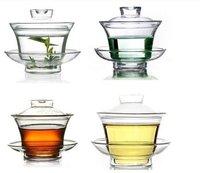 Chinese Suya Glass Gaiwan Teapot Tea Cup 150ml Sancai wan