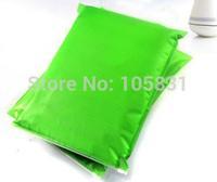 Free shipping 10pcs Classic colored plastic  zipper vacuum suits overcoat clothing organizer storage bag GREEN 30*40CM