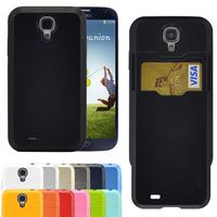 For Samsung Galaxy S4 i9500 SGP SPIGEN Tough Armor Case SLIM ARMOR Linear Hybrid Series silicone Card wallet Design Cover