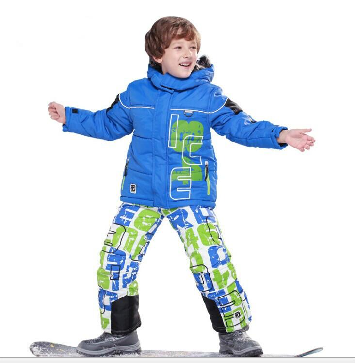 Winter Kids Clothes Set Children Ski Suits Snowboard Wear Clothing Warm Sets Outwear Jacket+Pants(China (Mainland))