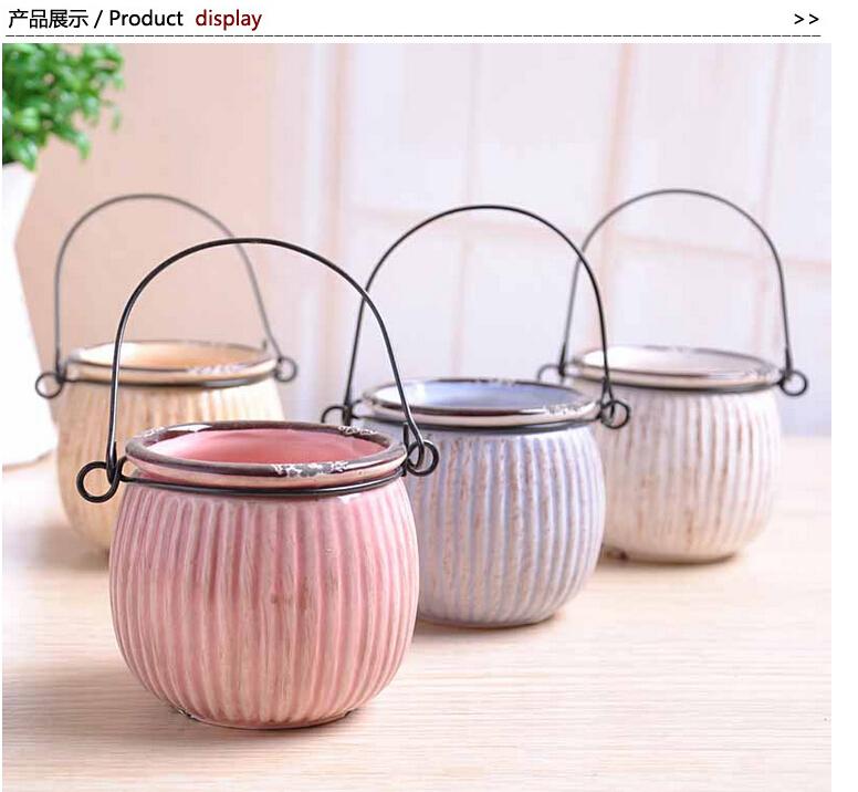 Zakka , vintage retro pumpkin wood grain finishing vase hydroponic flower pot ceramic bottle 4 colors u can choose XC-XP8477(China (Mainland))