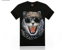 selling new 3 D T-shirt men cotton short sleeves authentic brand black T-shirt 1122 free shipping