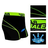 2014 Brand New Reflective Green Men Cycling Shorts Blue 3D Padded Coolmax Gel 4 Seasons Riding Bicycle Bike Underwear Size M-3XL