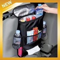 New 2014 Car Multi Back Seat Pocket Insulation bags Storage Organiser Bag OPP bags , BLACK ,FreeShipping