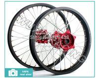 1X Wheel rim Hub Spoke Motorcycle MATTE Wheels Front 21x1.6 Rear 19x2.15 For HONDA CRF 250 450 R 2002 2004 2005 2006 2007 2008