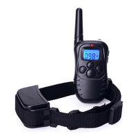 100LV Electric Shock Rechargeable And Waterproof Remote Pet Dog Training Collar With LCD Display For 2 Dogs