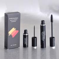 top popular!1pcs retail 2014 new MA brand makeup mascara+liner 2 in 1 set,make up eye black free shipping