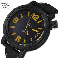 Famous brand name V6 import quartz movement silicone straps watch analog relogio clock casual fashion men quartz watches