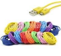 100pcs/lot 2M 6ft 8 Pin Charging Charger cable for IOS7,colorful USB 2.0 Sync Cord Data Cable for iPhone 5 5S 5C IPAD MINI