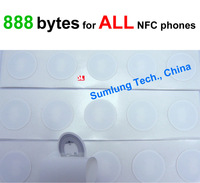 5x NFC Tag Stickers 888 bytes memory for ALL NFC mobile Galaxy S5 S4 Mega6.3 note 3 Nexus 5 wp8 Lumia RFID Label NTAG216 NDEF