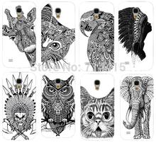 Cool Cartoon Black And White Animal pattern Cute Custom mobile phone Back cover skin Shell for Samsung galaxy S4 mini I9190