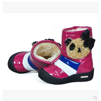 new 2014 children shoes winter Boots boot girls boots girls shoes Warm Free shipping Rhinestone Warm Antiskid Cute 1-406