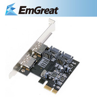 New SuperSpeed 2-Port USB 3.0 PCI-E PCI Express USB3.0  ESATA+SATA Connector Low Profile P0015832 Free Shipping