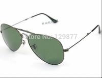 Free shipping New Brand name sunglass men's/women's Designer fold metal 3479 Silver sunglass Grey gradient lens 58mm box
