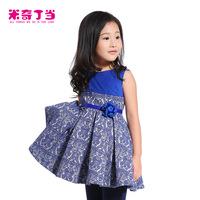 New rrival autumn suspender dress #1413119 children girl dresses kids high quality baby dress