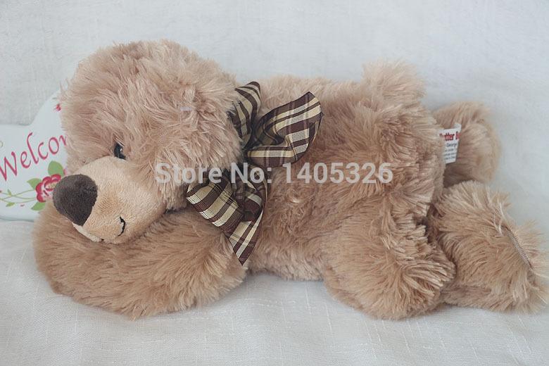 big teddy bear plush led junction brown bear birthday/wedding gifts 36cm(China (Mainland))