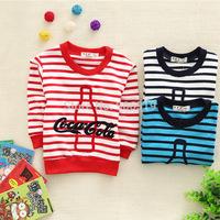 Fashion Stripe boys long sleeve T-shirt,S-XL,1pcs/iots,Free shipping