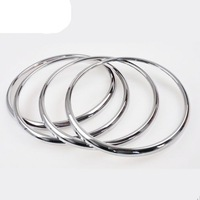 4PCS Car Chrome Stereo Speaker Ring Trim Decoration Loop For Cruze  2009-2011