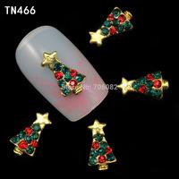 20 Pcs/Lot 3D Alloy Christmas Tree Nail Designs Stickers Nail Art Decorations Tips DIY Rhinestone Decoration TN466