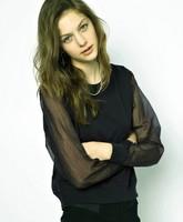 New Arrivel 2014 Euro Style Women Autumn Coat Fashion Chiffon Patchwork Black Hoody for Lady Casacos Femininos YS8612