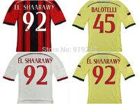 Customize! 14/15 season AC Milan jersey top quality soccer uniforms Size S-M-L-XL