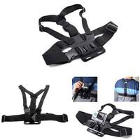 2014 Gopro Accessories Harness Adjustable Elastic Gopro Belt Body Chest Strap Mount for Go pro Hero3 2 SJ4000 Accessories HD