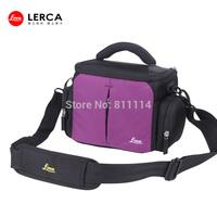 Freeshipping-Fashion LERCA Violet  Digital Camera Shoulder Bag Case For Canon 60D,600D,6D,7D,1200D,SX700HS,N,SX510HS,G1X,SX275HS