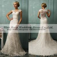 Vestido De Noiva Plus Size 2014 Lace Wedding Dress Vintage Sexy Mermaid Wedding Dresses Elegant Bridal Gowns Robe De Marriage