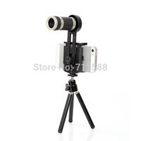 Mobile Phone Telescope Universal 8x Zoom Optical Lens Mobile Phone Telescope Camera Len w/ Holder for iPhone Samsung Nokia 12pcs