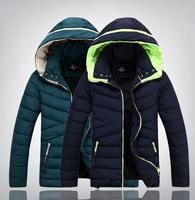Wholesale 2014 new men's winter jacket coat men's wadded coat winter thickening men coat, casual cotton-padded splicing men coat