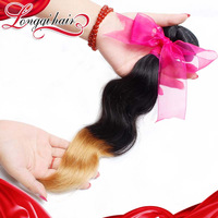 LQ Beauty Hair Products 1b/27 Two Tone Ombre Peruvian Virgin Hair Body Wave Ombre Hair Extension 3PCS Lot Human Hair Weave