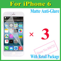 Matte Anti-Glare Anti Glare Screen Protector Protection Guard Film For iPhone 6 4.7 ,With Retail Package+3Pcs