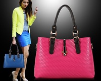 2014 Hot selling PU tote bag ,fashionable handbag 2014 , fashionable handbag bag for women
