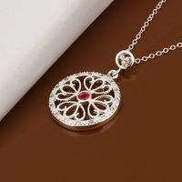 New wholesale 925 silver necklace&pendants,exquisite hollow out pendant,hot sale jewelry,factory price Free shipping LKN448