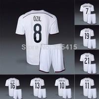 Alemania 4 stars ozil reus gotze lahm muller podolski Schweinsteiger klose kroos national home soccer jerseys and short uniforms